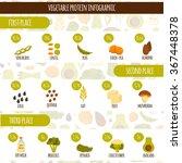 vegetarian protein infographic... | Shutterstock .eps vector #367448378