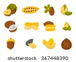 set of nuts and seeds icons in... | Shutterstock .eps vector #367448390
