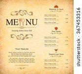 restaurant menu design. vector... | Shutterstock .eps vector #367453316