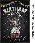 invitation to the birthday... | Shutterstock .eps vector #367454066