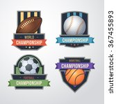 sport logo set vector. ...   Shutterstock .eps vector #367455893