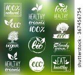 vector eco  organic  bio logos. ... | Shutterstock .eps vector #367456754