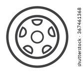 wheel icon. wheel icon vector....