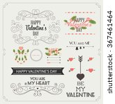 happy valentines day and... | Shutterstock .eps vector #367461464