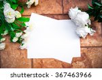 white paper on a stone wall... | Shutterstock . vector #367463966