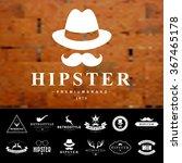 set of vintage  hipster badges... | Shutterstock .eps vector #367465178