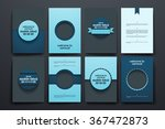 vector brochures with doodles... | Shutterstock .eps vector #367472873