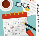 planning for the month on the... | Shutterstock .eps vector #367473140