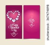 pink valentine day gift card... | Shutterstock .eps vector #367474898