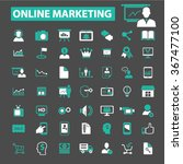 online marketing  digital... | Shutterstock .eps vector #367477100