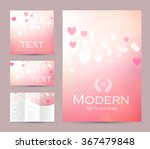 happy valentines day flyer ... | Shutterstock .eps vector #367479848
