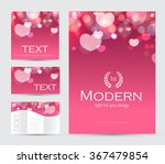 happy valentines day flyer ... | Shutterstock .eps vector #367479854