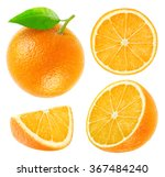 isolated oranges. collection of ... | Shutterstock . vector #367484240