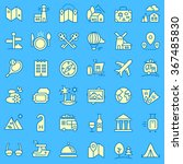 travel icons set for web and... | Shutterstock .eps vector #367485830