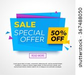 ecommerce bright vector banner. ... | Shutterstock .eps vector #367488050