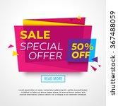 ecommerce bright vector banner. ... | Shutterstock .eps vector #367488059