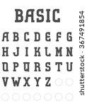 basic editable bold serif font... | Shutterstock .eps vector #367491854