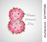 Abstract Floral Greeting Card...