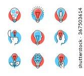 collection of creative idea... | Shutterstock .eps vector #367503614