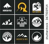 ski. skiing. skier. mountain... | Shutterstock .eps vector #367503914