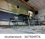 Abandoned School Classroom Wit...