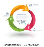 vector circle arrows for... | Shutterstock .eps vector #367505324