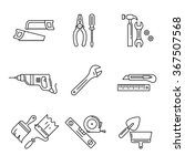 home tools and hardware set.... | Shutterstock .eps vector #367507568
