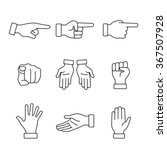hand gestures signs set. thin... | Shutterstock .eps vector #367507928