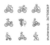 bike types and cycling sign set.... | Shutterstock .eps vector #367508369