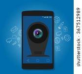 online mobile phone camera... | Shutterstock .eps vector #367512989