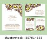 romantic invitation. wedding ... | Shutterstock .eps vector #367514888