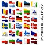 flat design european union... | Shutterstock .eps vector #367519790