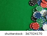 poker chips forming a border on ...   Shutterstock . vector #367524170