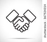 business agreement handshake... | Shutterstock .eps vector #367524314