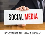 social media  message on white... | Shutterstock . vector #367548410