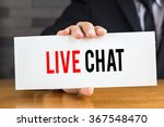 live chat  message on white... | Shutterstock . vector #367548470