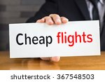 cheap flights  message on white ... | Shutterstock . vector #367548503