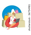 woman buying on the internet | Shutterstock . vector #36754981