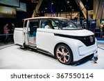 Small photo of Las Vegas, NV, - Jan. 9, 2016: Volkswagen introduces its new BUDD-e, fast-charging electric van at the 2016 Consumer Electronics Show (CES) to high acclaim.