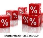 3d renderer image. red discount ...   Shutterstock . vector #367550969
