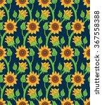seamless floral texture.... | Shutterstock .eps vector #367558388