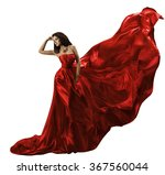 woman red dress on white ... | Shutterstock . vector #367560044