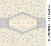 vintage invitation card with... | Shutterstock .eps vector #367563800