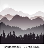 landscape with fir trees ... | Shutterstock .eps vector #367564838