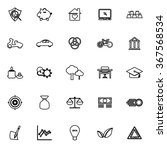 sufficient economy line icons... | Shutterstock .eps vector #367568534