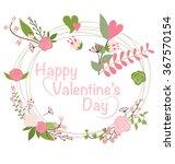 valentine s day card. vector... | Shutterstock .eps vector #367570154