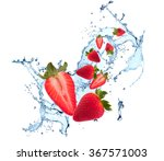 Water Splash With Fruits ...