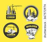 color construction company logo ... | Shutterstock .eps vector #367572974