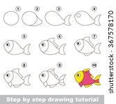 funny fish. step by step... | Shutterstock .eps vector #367578170