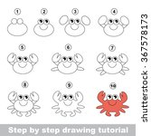 cute crab. step by step drawing ...   Shutterstock .eps vector #367578173